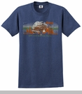 """CLOSEOUT Jeep """"Off the Beaten Path"""" Men's Heathered Blue Tee"""