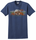 "CLOSEOUT Jeep ""Off the Beaten Path"" Men's Heathered Blue Tee"