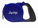 Jeep Paw Retractable Dog Leash in Blue