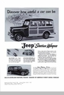 Jeep Poster/Print 1948 Willys Overland Jeep Station Wagon Ad