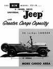 Jeep Poster/Print 1960 Willys Jeep CJ-6 Long Wheel Base Ad