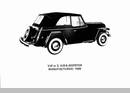 "Jeep Poster of a 1949 Willys Overland Jeepster VJ2-3/VJ3-6, 18"" x 24"""
