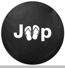 Jeep Sandal Logo Tire Cover