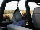 Jeep Storage Nets: Stow Away Mesh Bag w/Carabiner Clip Mount to Clothes/Bag Anchor, Single