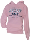"Jeep Sweatshirt - ""Authentic Jeep"" - Pink, Hooded"