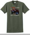 """Jeep� T-Shirt - """"I still stomp in mud puddles"""" -Olive Green"""