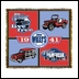 """Jeep Willys """"Live Free"""" Throw Blanket (Four panels)"""