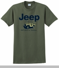 Jeep® Willys Nostalgia T-Shirt (Olive Green, Short Sleeve)