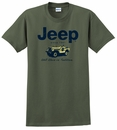 Jeep� Willys Nostalgia T-Shirt (Olive Green, Short Sleeve)