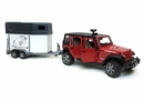 Jeep Wrangler Unlimited JKU Rubicon with Horse Trailer and Horse