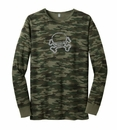 Closeout Jeep Skull & Crossbones Long Sleeve Thermal, Green Camo