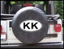 KK Oval Design on Black Spare Wheel Cover