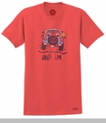 """Life is Good """"All In"""" Men's Short Sleeve Tee on Americana Red"""