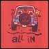 "Life is Good ""All In"" Men's Short Sleeve Tee on Americana Red"