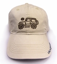 "Life is Good Chill Cap - Native Jeep on ""Bone"" Hat"