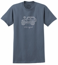 "CLOSEOUT - Life is Good ""Native Offroad"" short sleeve Men's Tee (True Blue)"