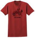 "Life is Good ""Off Road Greeting"" Men's Tee on Nantucket Red"