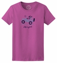 "Closeout - Life is Good ""Off Road Hello"" Women's Tee on Fresh Raspberry"