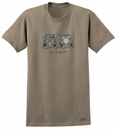 """CLOSEOUT (MD) - Life is Good """"Offroad Wave"""" Short Sleeve Shirt in Brown"""