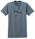 """CLOSEOUT (SM) - Life is Good """"Rock On"""" short sleeve Men's Tee (Shadow Blue)"""