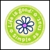 """Life is Good Round 4"""" Sticker - Daisy Simple As That"""