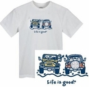 """Life is Good """"The Wave"""" T-Shirt - Cloud White"""