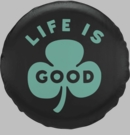 Life is Good Tire Cover-Green Clover