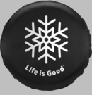 Life is good Tire Cover Snowflake Design