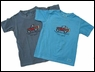 """Life is Good Toddler """"Offroad Jeep"""" Tee on Tropic Blue"""