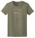 Closeout: Life is Good Women's Off Road Camo Jeep Tee