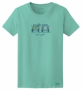 "CLOSEOUT - Life is Good Women's ""The Wave"" Women's Tee, Aqua Blue"