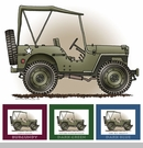 """Little Wheelers """"G.I. Joemobile"""" Matted Personalized Print"""