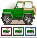 """Little Wheelers """"Rough & Ready Mangler"""" Matted Personalized Print"""