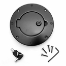 Locking Gas Cap Door, Jeep TJ (1997-2006), LJ (2004-2006), Black
