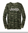 Long Sleeve Green Camo Thermal with Light Gray Jeep Logo