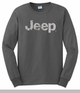 Long Sleeve T-Shirt with Distressed Jeep Logo