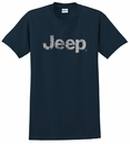 Men's T-Shirt with Distressed Jeep Logo