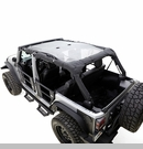 Mesh Shade Top for Jeep Wrangler 2 Door 2007-2017 in Black by Rampage