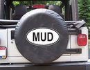 MUD Oval Design on Black Spare Wheel Cover