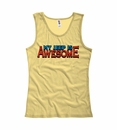 """""""My Jeep is Awesome"""" Women's Tank Top - Yellow"""