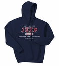 Navy Authentic Jeep Sweatshirt: (Hooded)