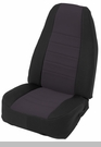 Neoprene Seat Cover Set Wrangler JK 2D 2007-2012 Black by Smittybilt