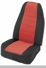 Neoprene Seat Cover Set Wrangler JK 2D 2007-2012 Red by Smittybilt