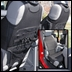 Neoprene Seat Vest Wrangler JK 2007-2017 w/o ABS Black Rugged Ridge
