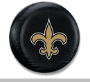 New Orleans Saints NFL Tire Cover - Black Vinyl
