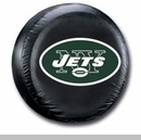 New York Jets NFL Tire Cover - Black Vinyl