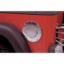 Billet Style Gas Door Cover w/o Lock Wrangler JK 2007-2017 in Chrome
