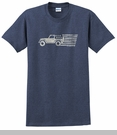 Jeep Old Glory - Men's T-Shirt, by All Things Jeep