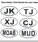 Oval-Style Jeep / Off-road  Decals / Stickers