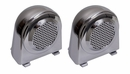 Pair of Chrome Tweeter Enclosures for Jeep Wrangler JK (2007-2010)